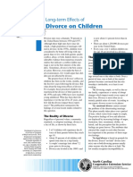 Long Term Effects of Divorce on Children