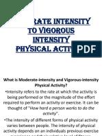 MODERATE Intensity to VIGOROUS Intensity