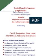 2_Pengertian Dasar Pasar Maritim & Realisasi Perencanaan