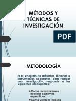 Mètodos y Tècnicas de Investigaciòn