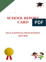 School Report Card Final 2017-2018