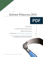 Informe Observatorio Social - Primavera 2010