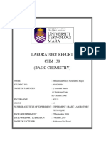 Lab Report Experiment 1 CHM 138