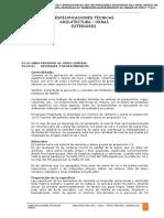 ESPECIFICACIONES TECNICAS Patio Central y j. Niños.
