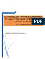 Maitrise Des Travaux d'Elaboration de La Paie Et de La Fiscalité Des Salaires