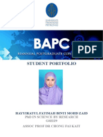 Student Portfolio Front Page Template