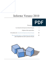 Informe Observatorio Social - Verano 2010