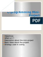 C Programming Mini Project