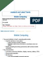 Mobile Computing Sreevidhya@Students