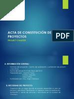 Acta de Constitución de Proyectos