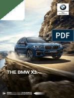 BMW X3 G01 Sales Literature Catalogue Oct 2018 En