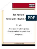 Best practices of MSDS