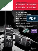 IC-F33G Series Brochure