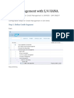 Credit Management With S4 HANA