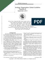 Hepatisis B guideline world gastroenterology