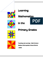 Learning Mathematics in Primary Grades Complete Chapter by