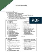 DCM Daftar Masalah