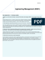 Case Study - Engineering Management