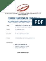 ACTIVIDAD N° 13 - ORDEN DE LOS ELEMENTOS DEL COSTO EN LA ACTIVIDAD PESQUERA Y MINERA