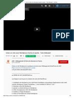 Créer Un Site Avec Wordpress Facile Et Rapide - Tuto Débutant - YouTube