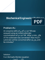 Biochemical Engineering Problems