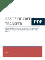 Basics of Credit Transfer