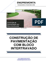 Construção de Pavimentação Com Bloco Intertravado