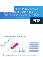 3-2 [Dr Philipp Servatius]the Role of the Public Sector as Enabler of Sustainable Risk Transfer Solutions in SE Asia