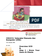 02. Overview UCD _ Step 1 Know User