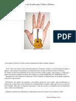 Caderno de Acordes Para Violão e Guitarra