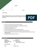 Sample Automation Resume