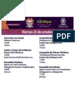 Programa Feria del Alfeñique Toluca 2019