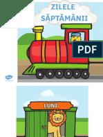 Ro t m 001 Trenuletul Cu Zilele Saptamanii Planse