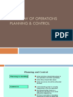 Overview of Operations Planning & Control