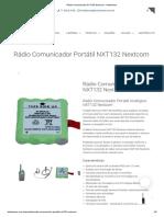 31509 Rádio Comunicador NXT132 Nextcom - Intelisense