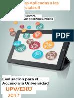 EXAMENES UPV-Matematicas Ciencias Sociales (2010-2017)