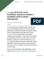 Portugal, já fora do coma econômico, decide se mantém o socialista Costa no poder | Internacional