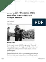 Mises Brasil - O Horror Da China Comunista e Seus Pavorosos Campos de Morte