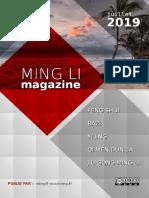 Ming Li Magazine Juillet 2019