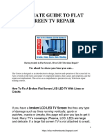 Flat Screen Lcd Tv Repair