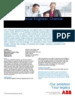 Primary Electrical Engineer Chennai ABB Career