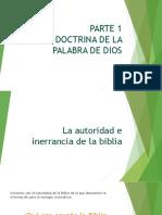 Doctrina de la palabra de Dios