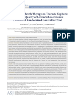 The Effect of Schroth Therapy on Thoracic Kyphotic