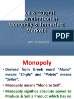 Mkt Structure Ppt -Monopoly and Monopolistic markets