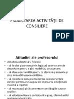 proiectarea consilierii