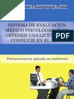 Sistema de evaluación médico psicológica para obtener una licencia de conducir en el Perú