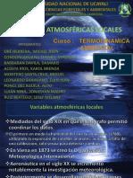 Variables Atmosféricas Locales