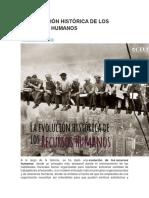 EVOLUCIÓN HISTÓRICA DE LOS RECURSOS HUMANOS