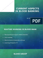 Current Aspects in Blood Banking