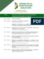 Programa de La Semana 2019